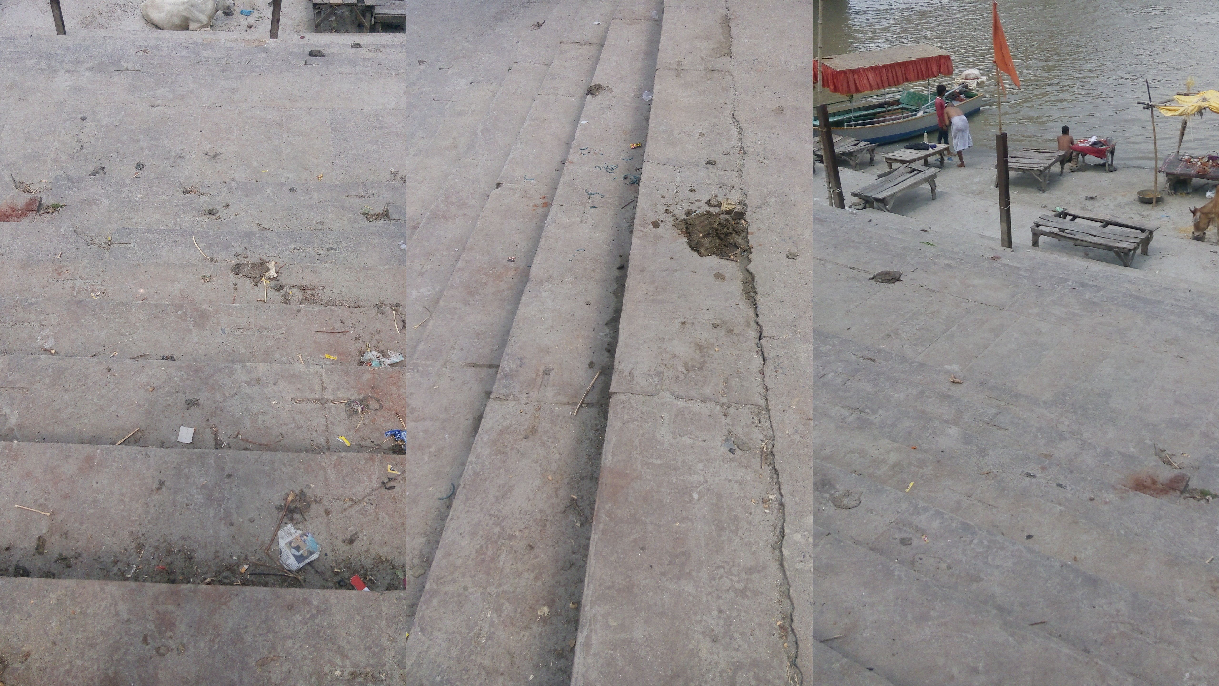 Disgusting state of Ghats(jetty).